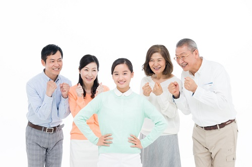 子供を応援する家族